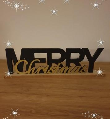 Merry Christmas plank klein