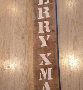 Merry Christmas plank groot